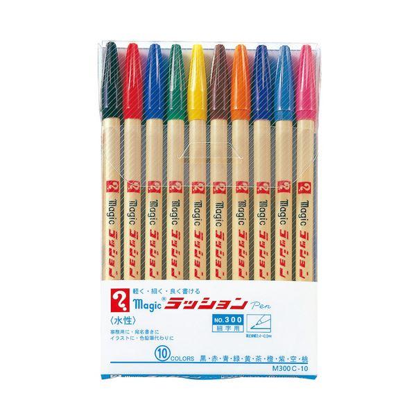 10色 5セット【×3セット】 ラッションペン 細字 (まとめ) M300 寺西化学工業