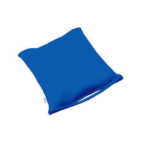 (まとめ)MOGU のびるシートクッション 青【×2セット】