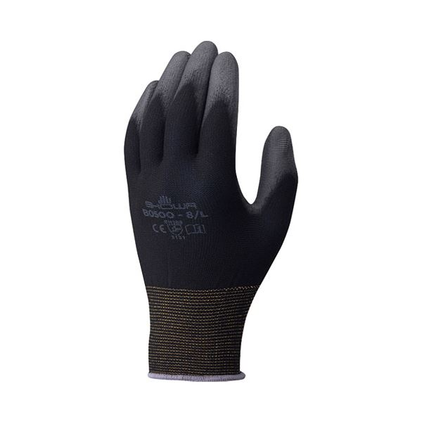 (まとめ)ショーワグローブ パームフィット手袋 B0500 ブラック M【×50セット】