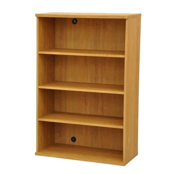 カラーボックス(収納棚/カスタマイズ家具) 4段 幅78.9×高さ120.3cm セレクト1280BR ブラウン【代引不可】