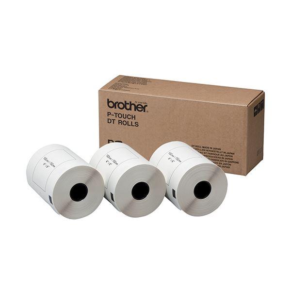 ブラザー DTプレカットラベル102×152mm 白/黒文字 DT-241 1パック(600枚:200枚×3個)