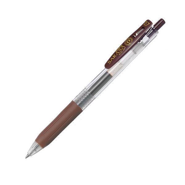 (まとめ) ゼブラ ゲルインクボールペン サラサクリップ 0.7mm 茶 JJB15-E 1本 【×100セット】