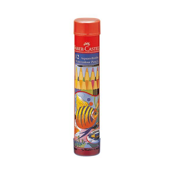 (まとめ) ファーバーカステル 水彩色鉛筆 丸缶12色 TFC-115912 1セット 【×10セット】