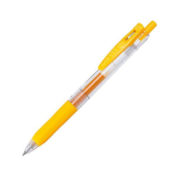 (まとめ) ゼブラ ゲルインクボールペン サラサクリップ 0.7mm 黄 JJB15-Y 1本 【×100セット】