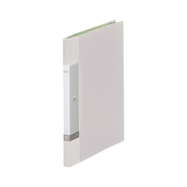 (まとめ) リヒトラブ リクエスト クリヤーブック(クリアブック) A4タテ 20ポケット 背幅16mm 白 G3201-0 1冊 【×30セット】
