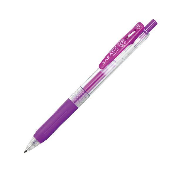 (まとめ) ゼブラ ゲルインクボールペン サラサクリップ 0.5mm 紫 JJ15-PU 1本 【×100セット】