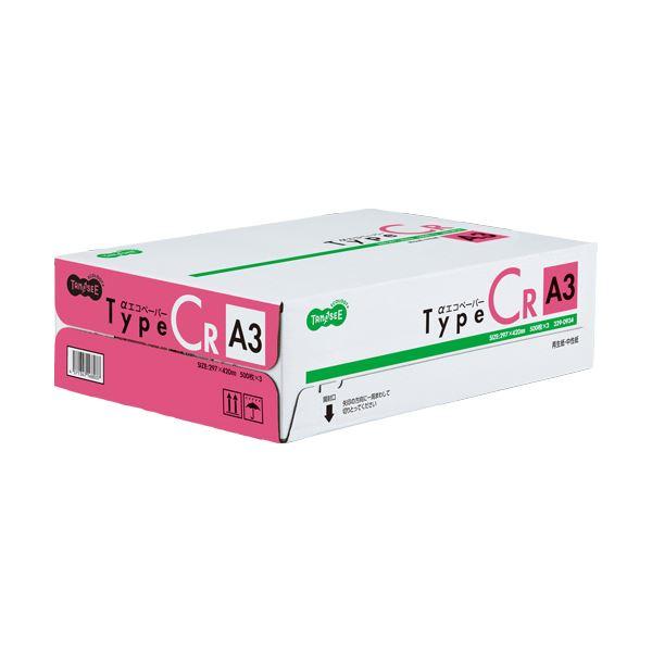 (まとめ)TANOSEE αエコペーパータイプCR A3 1箱(1500枚:500枚×3冊) 【×3セット】