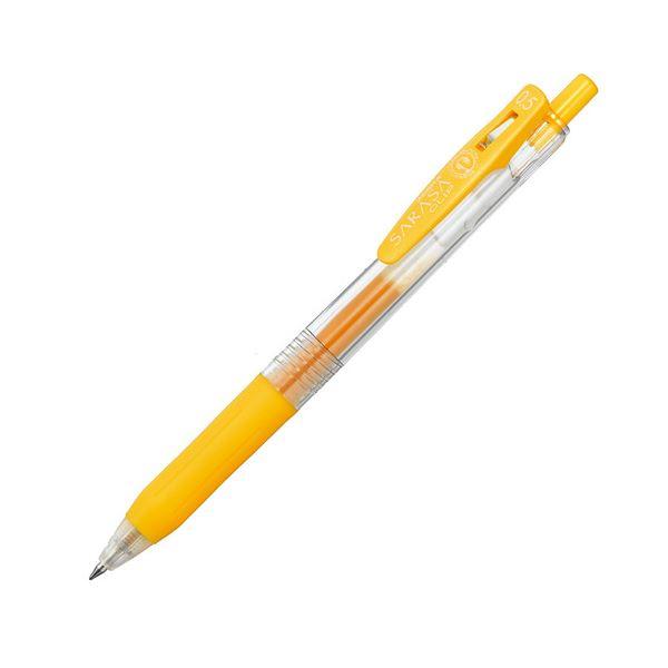 (まとめ) ゼブラ ゲルインクボールペン サラサクリップ 0.5mm 黄 JJ15-Y 1本 【×100セット】