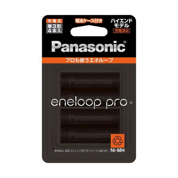 (まとめ) パナソニック 充電式ニッケル水素電池eneloop pro ハイエンドモデル 単3形 BK-3HCD/4C 1パック(4本) 【×5セット】