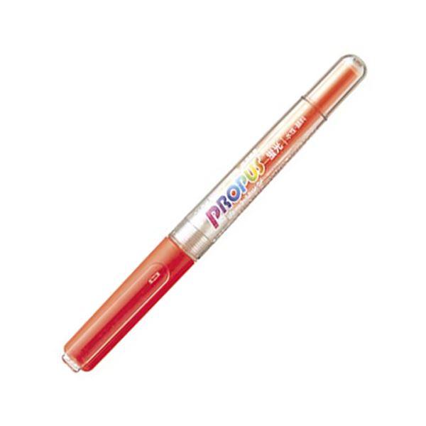 (まとめ) 三菱鉛筆 蛍光ペン プロパス・カートリッジ 橙 PUS155.4 1本 【×100セット】