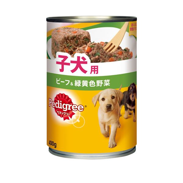 (まとめ)ペディグリー 子犬用 ビーフ&緑黄色野菜 400g (ペット用品・犬フード)【×24セット】