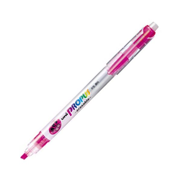 (まとめ) 三菱鉛筆 蛍光ペン プロパス・イレイサブル 桃 PUS151ER.13 1本 【×100セット】