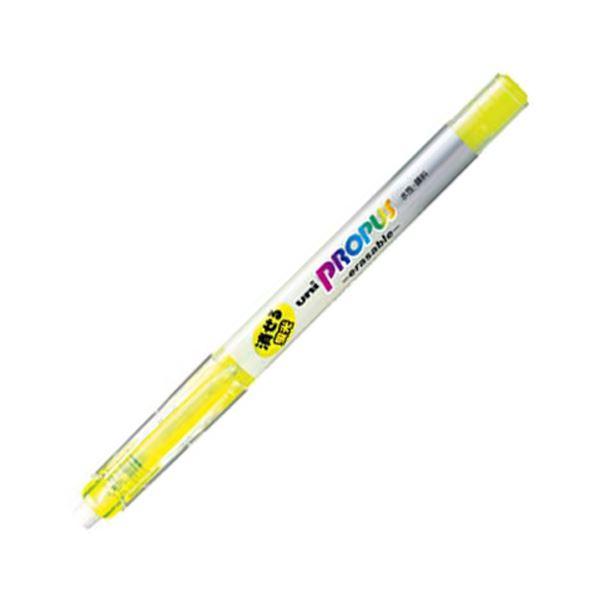 (まとめ) 三菱鉛筆 蛍光ペン プロパス・イレイサブル 黄 PUS151ER.2 1本 【×100セット】
