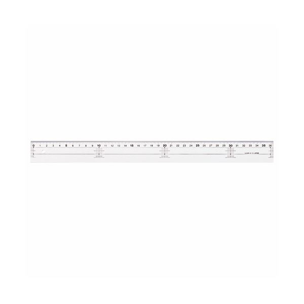1セット(10本) A-10 アクリル直線定規30cm ライオン事務器 (まとめ) 【×10セット】
