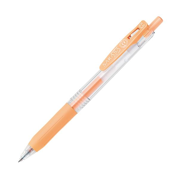 (まとめ) ゼブラ ゲルインクボールペン サラサクリップ 0.5mm ミルクオレンジ JJ15-MKOR 1本 【×100セット】