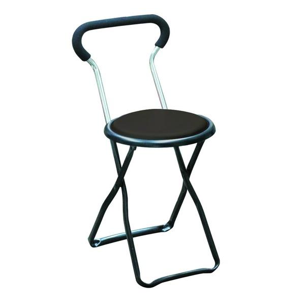 折りたたみ椅子 【4脚セット ブラック×ブラック】 幅32cm 日本製 スチールパイプ 『ソニックチェア』【代引不可】