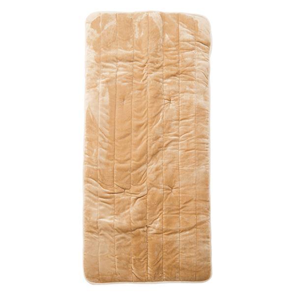 【YAMAZEN】 ホットカーペット 【幅80×奥行180cm ベージュ】 防滑 ダニ退治 8時間自動OFF機能 『洗えるどこでもカーペット』