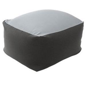 カバーリング ビーズクッション/ビッグクッション 【XLサイズ ブラック】 洗えるカバー 〔リビング雑貨 生活雑貨〕【代引不可】
