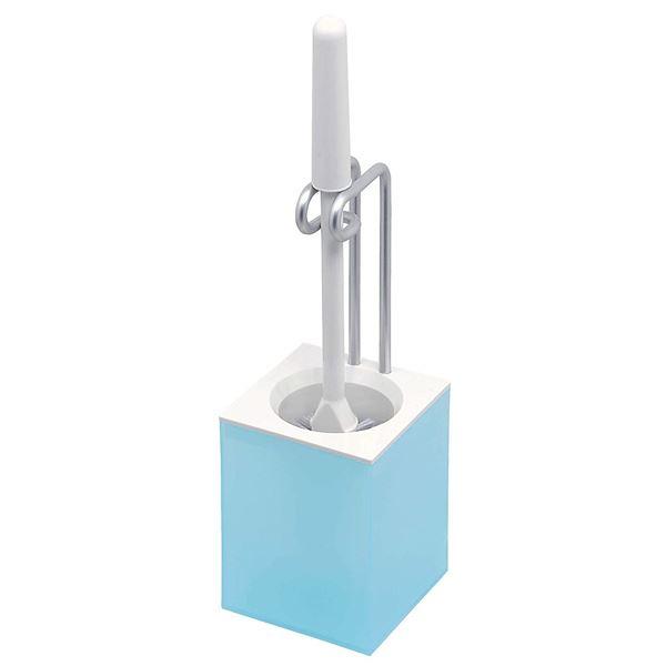 (まとめ)トイレ掃除用品 アルモア トイレケース ブラシ付き ミストブルー ( トイレブラシ ) 【20個セット】