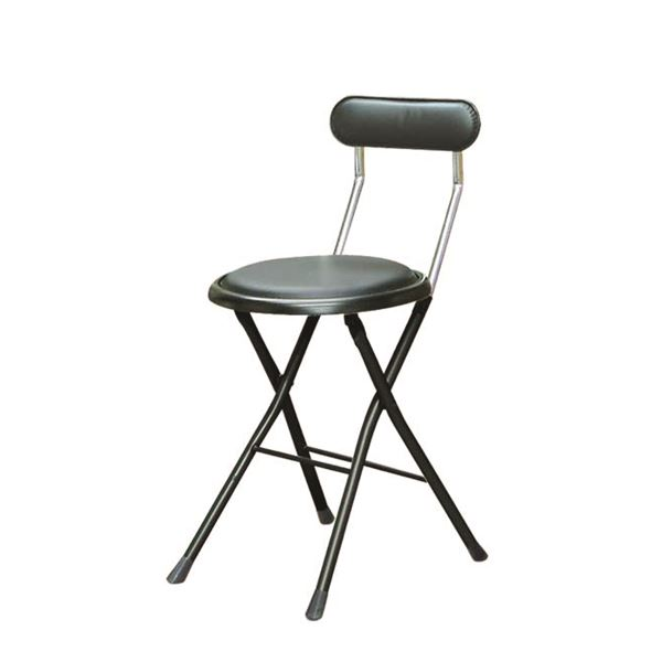 折りたたみ椅子 【同色6脚セット ブラック×ブラック】 幅33cm 日本製 スチールパイプ 『ニューニーダー』【代引不可】