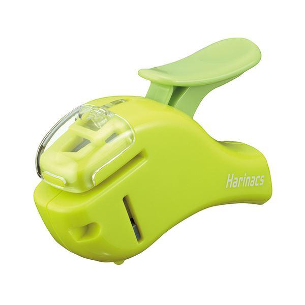 針なしステープラー(ハリナックスコンパクトα) 緑 5枚とじ コクヨ 【×30セット】 SLN-MSH305G (まとめ) 1個