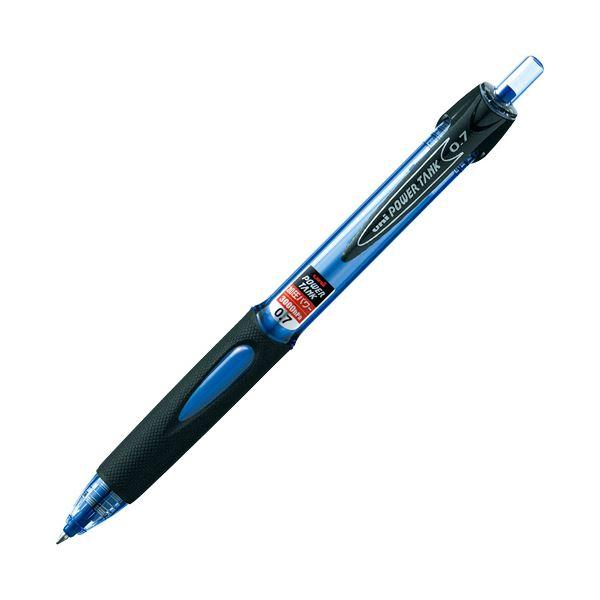 (まとめ) 三菱鉛筆 油性加圧ボールペン パワータンク スタンダード 0.7mm 青 SN200PT07.33 1本 【×50セット】