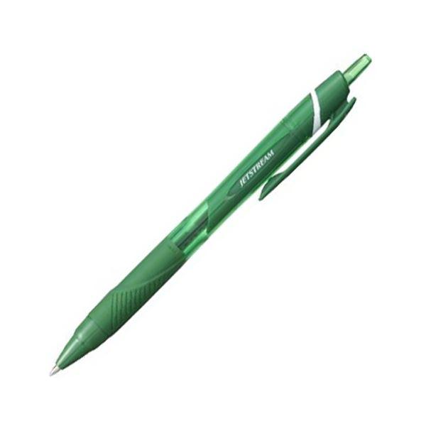 (まとめ) 三菱鉛筆 油性ボールペン ジェットストリーム カラーインク 0.7mm 緑 SXN150C07.6 1本 【×100セット】