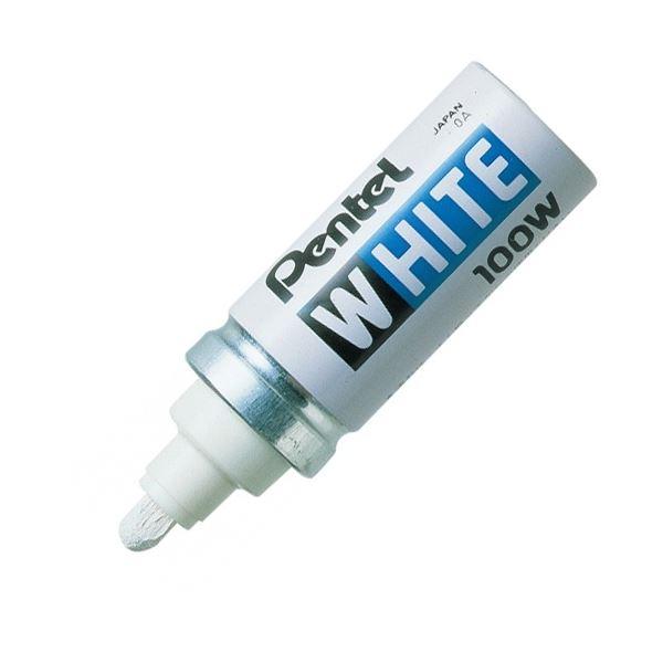 (まとめ) ぺんてる 油性ペイントマーカー ホワイト 太字 X100-WD 1本 【×50セット】