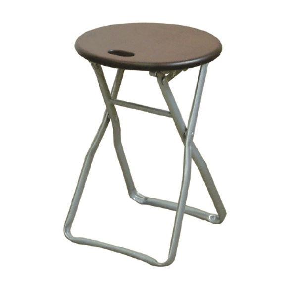 折りたたみ椅子 【4脚セット ダークブラウン×シルバー】 幅32cm 日本製 木製 スチールパイプ 『キャプテンチェア』【代引不可】