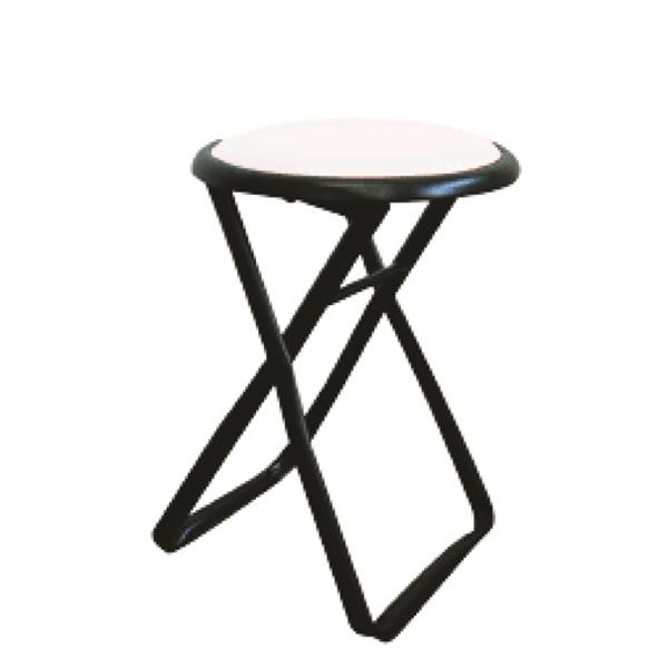 折りたたみ椅子 【6脚セット ホワイト×ブラック】 幅32cm 日本製 スチールパイプ 『キャプテンチェア』【代引不可】