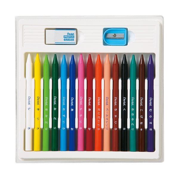 (まとめ) ぺんてる 小学校色えんぴつ12色+3色(各色1本) GCG1-12P3 1個 【×10セット】