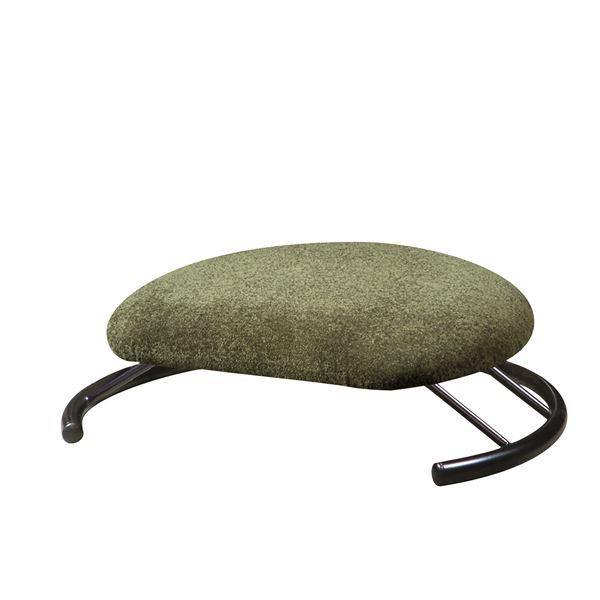 あぐら椅子/正座椅子 【モスグリーン×ブラック】 幅50cm 耐荷重80kg 日本製 スチール 『座ユー』 〔リビング〕【代引不可】