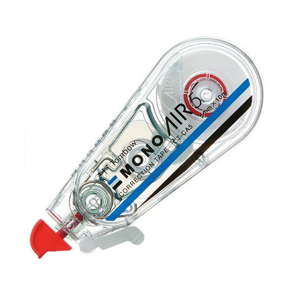 (まとめ) トンボ鉛筆 修正テープ モノエアー5mm幅×10m 赤 CT-CA5 1セット(5個) 【×10セット】