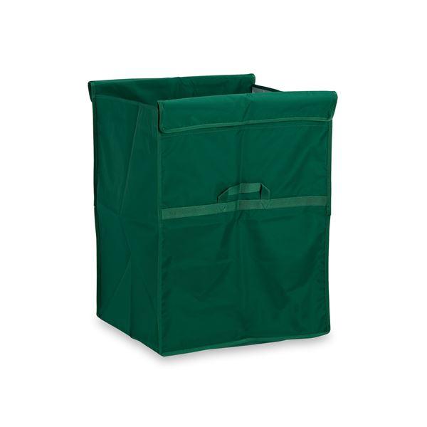 【本体別売】 スタンディングカート/運搬カート用品 【替袋E 緑 ファスナーなし 小】 ナイロン製 〔業務用 工場 店舗〕