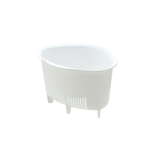 (まとめ) 三角コーナー/生ゴミ入れ 【ホワイト L】 抗菌加工付き キッチン用品 『シェリー』 【×60個セット】