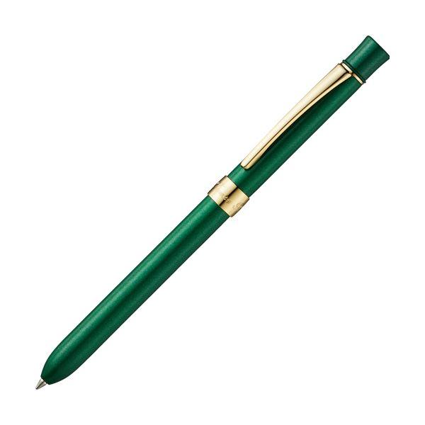 (まとめ) TANOSEE 多機能筆記具3ファンクションスリムメタルf ブリティッシュグリーンマイカ 1本 【×10セット】