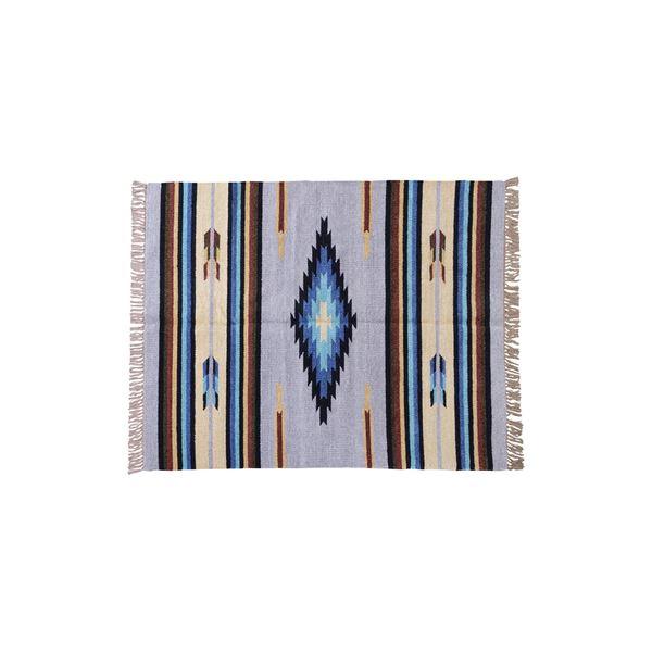 キリム ラグマット/絨毯 【170×230cm TTR-107D】 長方形 綿 インド製 〔リビング ダイニング フロア 居間〕