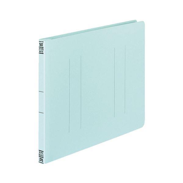 (まとめ) コクヨ フラットファイルV(樹脂製とじ具) A4ヨコ 150枚収容 背幅18mm 青 フ-V15B 1パック(10冊) 【×10セット】