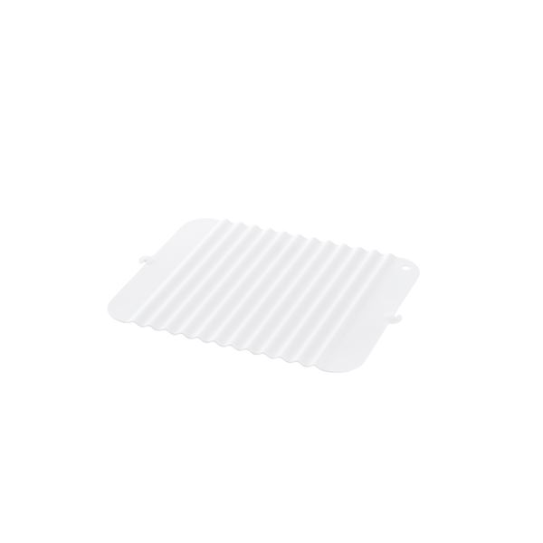 (まとめ) 立てて乾かせるシリコン製 シンクマット 【ホワイト】 S キッチン用品 『シェリー』 【×20個セット】