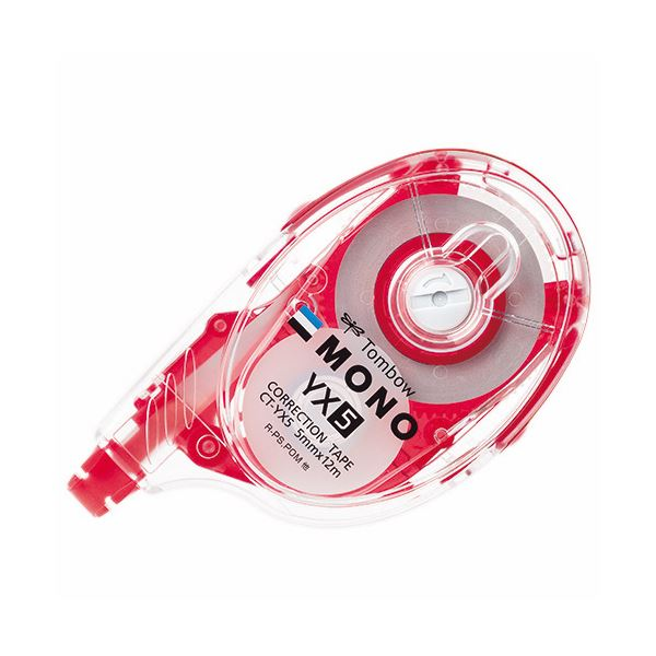 (まとめ) トンボ鉛筆 修正テープ モノYX5 本体 5mm幅×12m 赤 CT-YX5 1個 【×30セット】