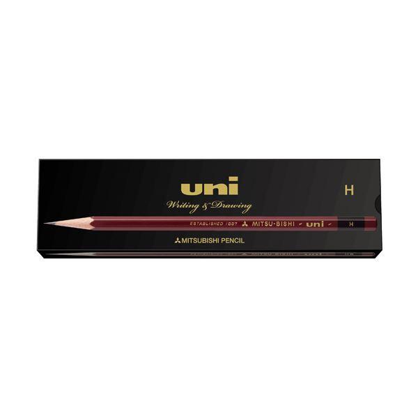 (まとめ) 三菱鉛筆 鉛筆 ユニ紙箱 H UKH 1ダース(12本) 【×10セット】