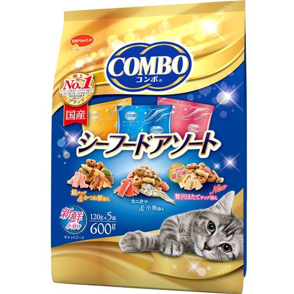 (まとめ)コンボ キャット シーフードアソート 600g【×12セット】【ペット用品・猫用フード】