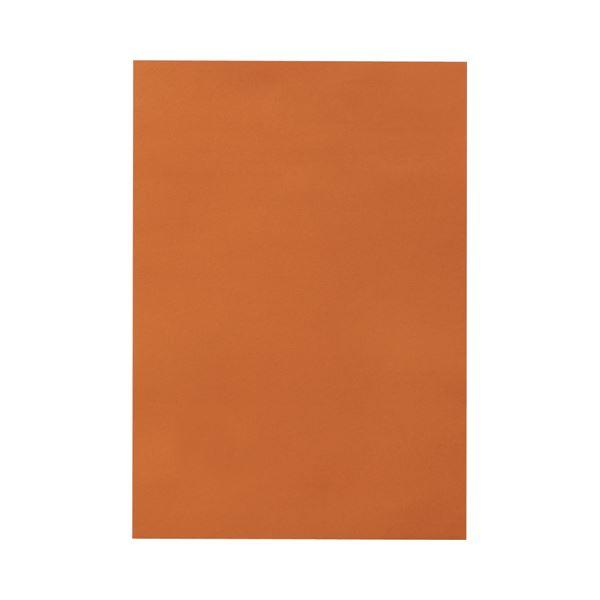 (まとめ) TANOSEE 色画用紙 八つ切 ちゃいろ 1パック(10枚) 【×50セット】