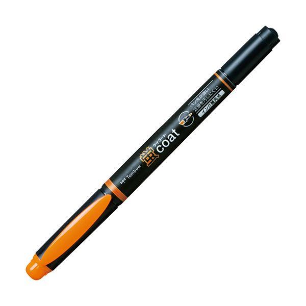 (まとめ) トンボ鉛筆 蛍コート ツインタイプだいだい WA-TC93 1本 【×100セット】
