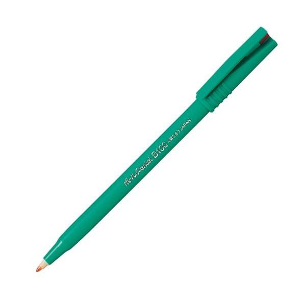 (まとめ) ぺんてる 水性ボールペン ボールぺんてる 0.6mm 赤 B100-BD 1本 【×100セット】