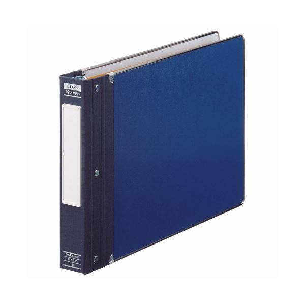 (まとめ) ライオン事務器 データバインダーバーストタイプ T8×Y12 16穴 350枚収容 青 0812-MP16 1冊 【×10セット】