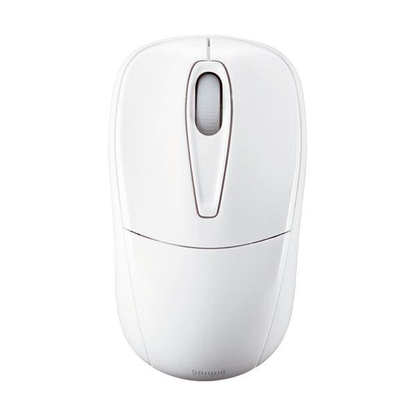 (まとめ) サンワサプライ 静音ワイヤレスマウス 2ボタン ホワイト MA-WH123W 1個 【×5セット】