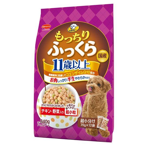(まとめ)ビタワン もっちりふっくら 11歳以上 チキン・野菜入り 840g (ペット用品・犬フード)【×6セット】