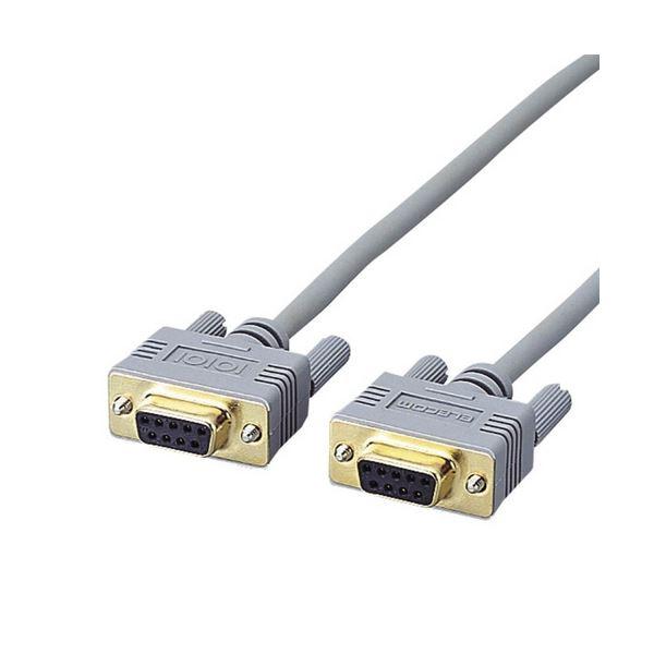 予約販売 コンピューター本体とRS-232Cの周辺機器を接続できます まとめ エレコムRS-232Cケーブル ノーマル D-Sub9pinメス 1本 ×10セット 〔沖縄離島発送不可〕 日本 3.0m C232N-930