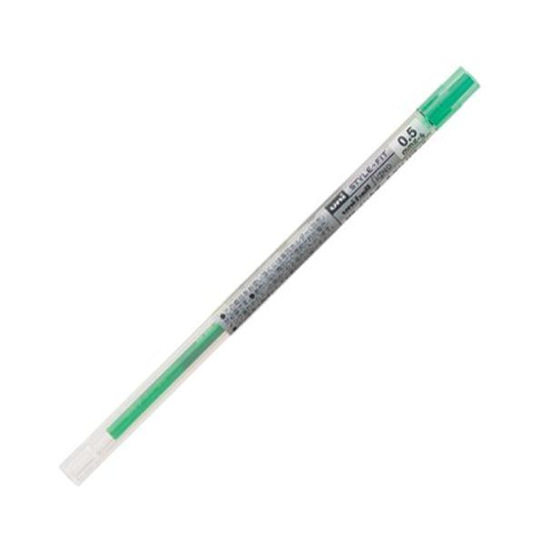 (まとめ) UMR10905.6 1セット(10本) グリーン 三菱鉛筆 【×10セット】 ゲルインクボールペンスタイルフィット 替芯 0.5mm